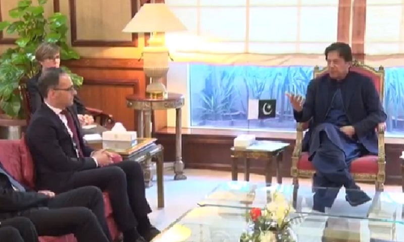 In meeting with German FM, PM Khan urges int'l community to take notice of rights violations in IoK