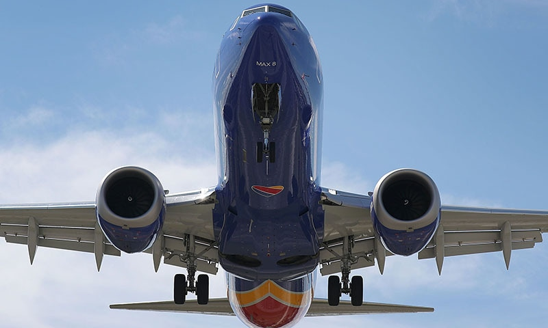 A Southwest Boeing 737 Max 8 enroute from Tampa prepares to land at Fort Lauderdale-Hollywood International Airport on March 11, 2019 in Fort Lauderdale, Florida. — AFP