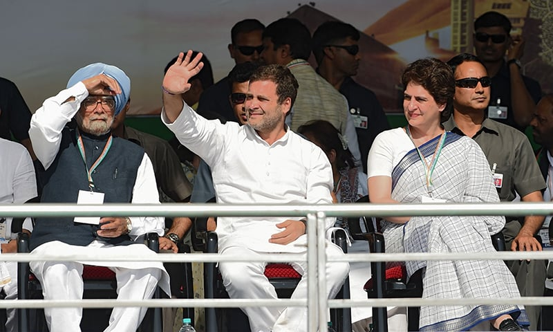 India's Congress duo Rahul and Priyanka launch election campaign on Modi's home turf
