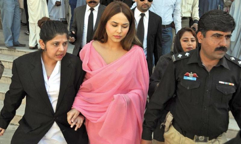 Model Ayyan Ali says she wants to appear before trial court in currency smuggling case. — INP/File