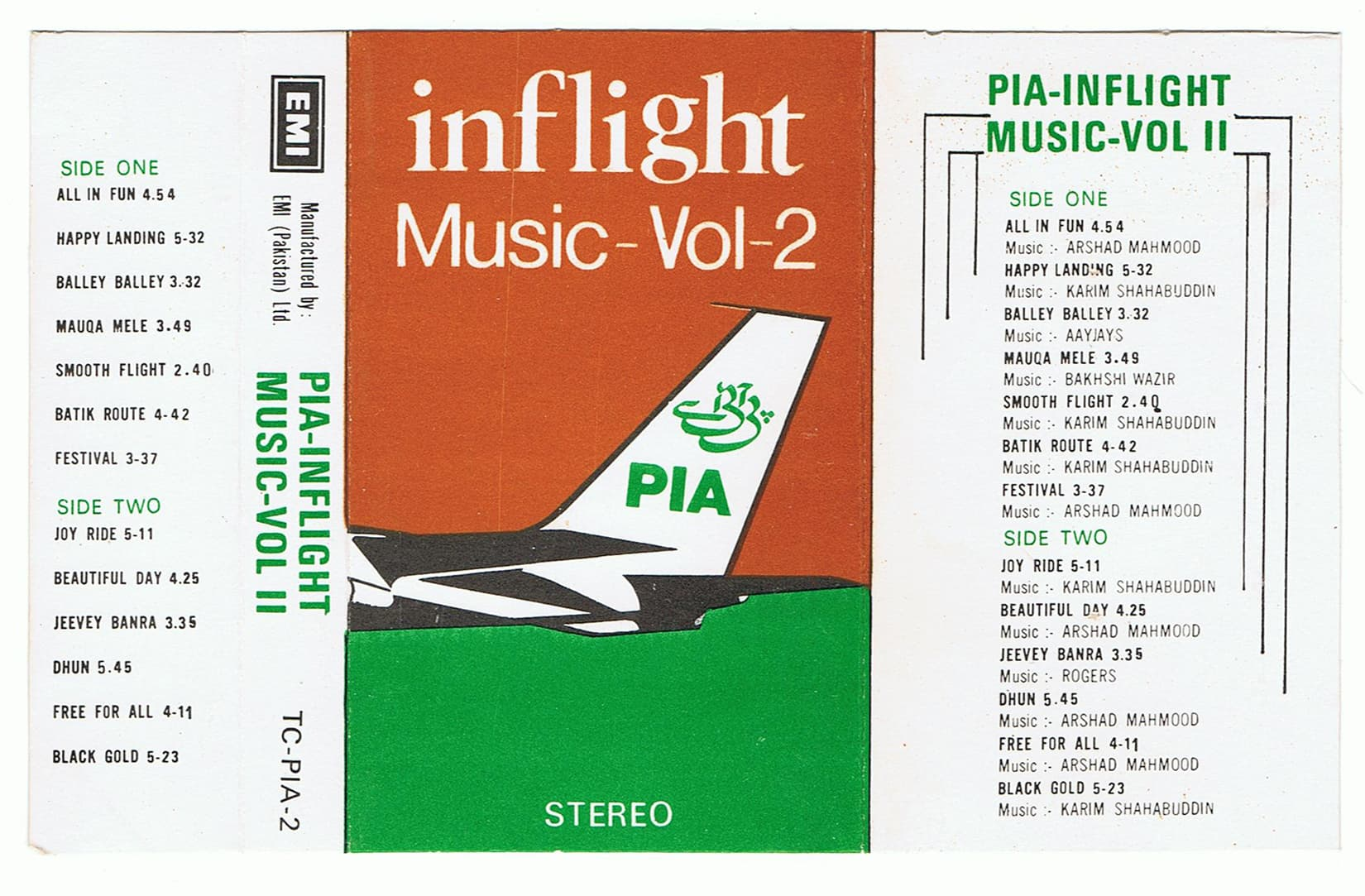 PIA In Flight Music Volume Two