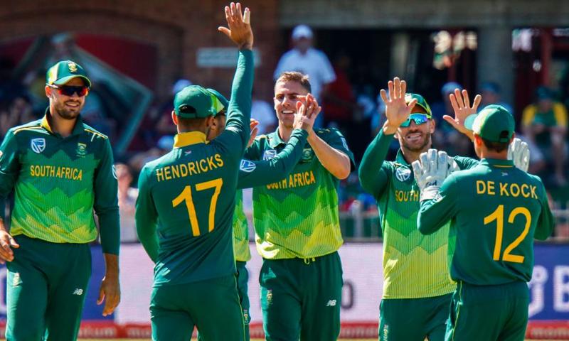 جنوبی افریقہ کو سیریز میں 0-4 کی برتری حاصل — فوٹو: آئی سی سی ٹوئٹر اکاؤنٹ