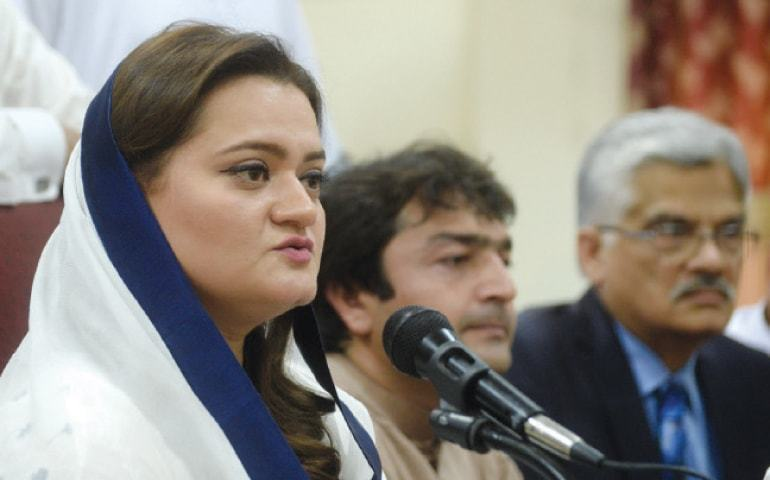"""Shahbaz  has been vindicated from yet another false PTI mantra of the SWM project corruption charges,"" says Marriyum. — APP/File"