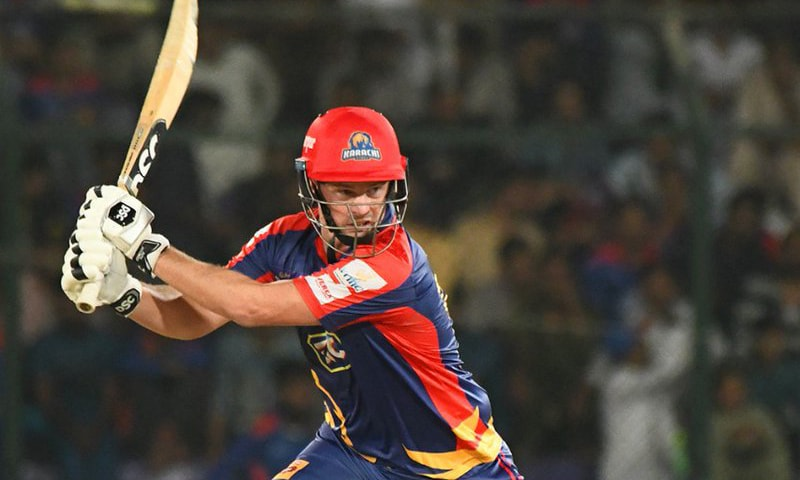 Colin Munro gearing up to send one down to the boundary. — PSL