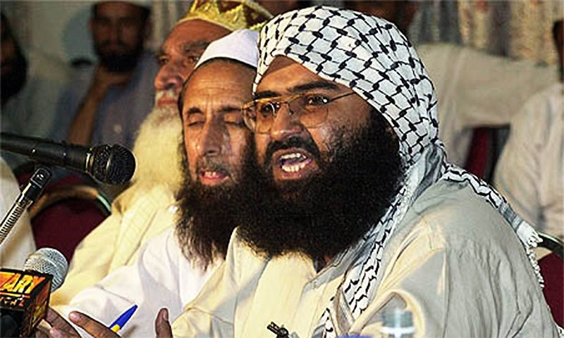 This file photo shows Jaish-e-Mohammad chief Masood Azhar.— AFP/File
