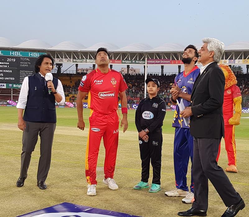 کراچی کنگز نے ٹاس جیت کر پہلے خود کھیلنے کا فیصلہ کیا—پی ایس ایل ٹوئٹر اکاؤنٹ