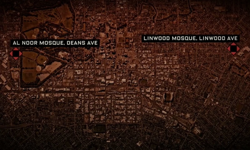 دونوں مساجد نیوزی لینڈ کے تیسرے بڑے شہر میں ہیں — فوٹو : اسکرین شاٹ