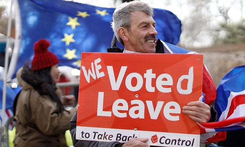 یورپی یونین بریگزٹ میں تاخیر کی اجازت دینے سے متعلق حتمی فیصلہ کرے گا— فوٹو: اے ایف پی