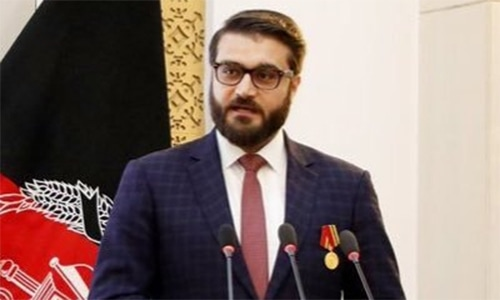 Afghan National Security Adviser Hamdullah Mohib   blasted US Special Represen­tative Zalmay Khalilzad, accusing him of weakening the Afghan government so that he could become Afghanistan's viceroy. — Photo courtesy: Mohib Hamdullah's Twitter profile