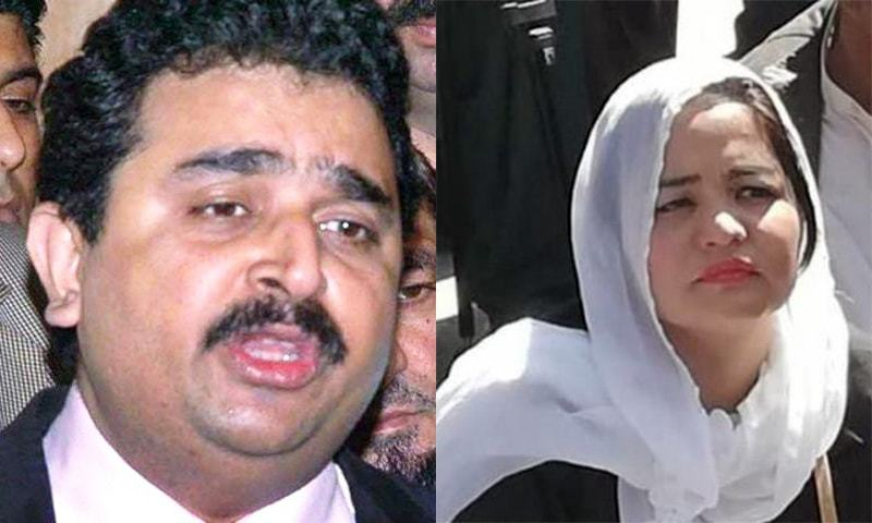 Ex-minister Kamran Michael and activist Jalila Haider (photo courtesy: Online) have been placed on the no-fly list. — Dawn.com
