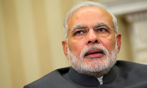 Indian Prime Minister Narendra Modi is vulnerable over his economic record in the polls starting on April 11. — AFP/File
