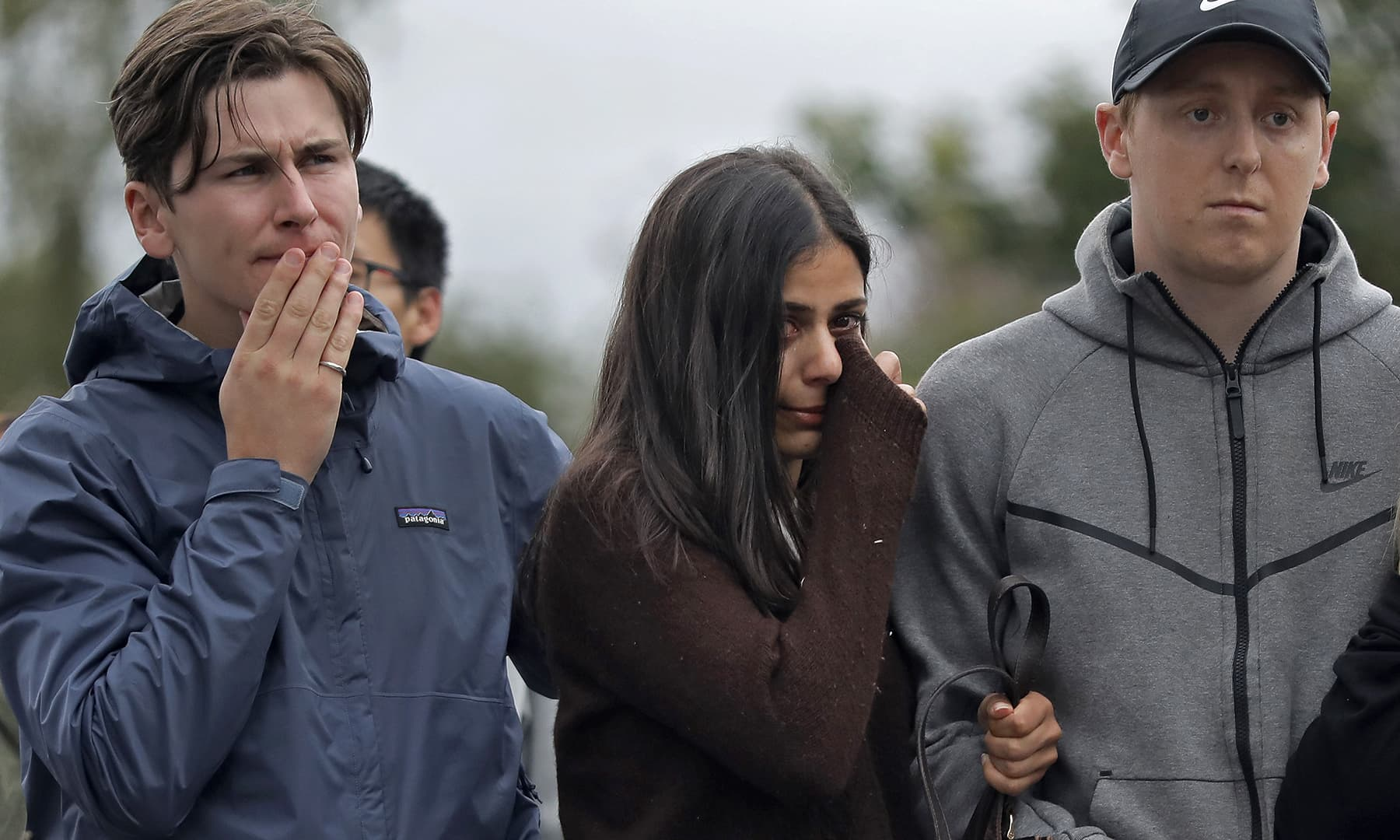 Residents gather together to mourn the loss of fellow New Zealanders at a makeshift memorial near the Masjid Al Noor mosque, Saturday, March 16, 2019, Christchurch, New Zealand. — AP