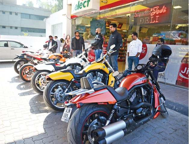 Permission to 600cc bikes has been granted till the decision of the SC on an appeal filed by the NHMP.— Photo courtesy of Khurram Amin