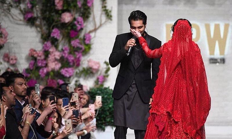 ہانیہ عامر اور عاصم اظہر فیشن پاکستان ویک میں