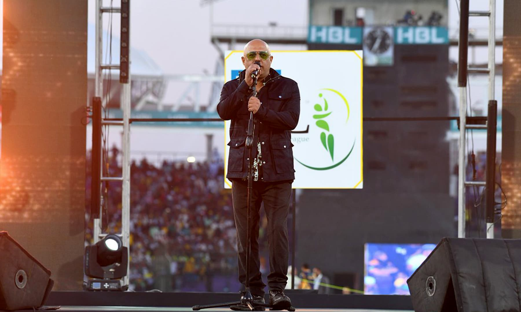 Junoon singer Ali Azmat gave a high octane performance. — PSL