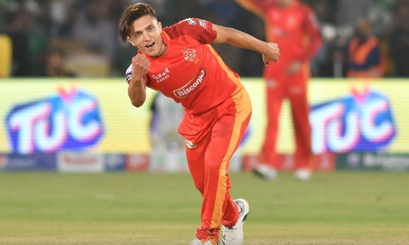 Mohammad Musa for Islamabad United. ─ Photo courtesy PSL Twitter
