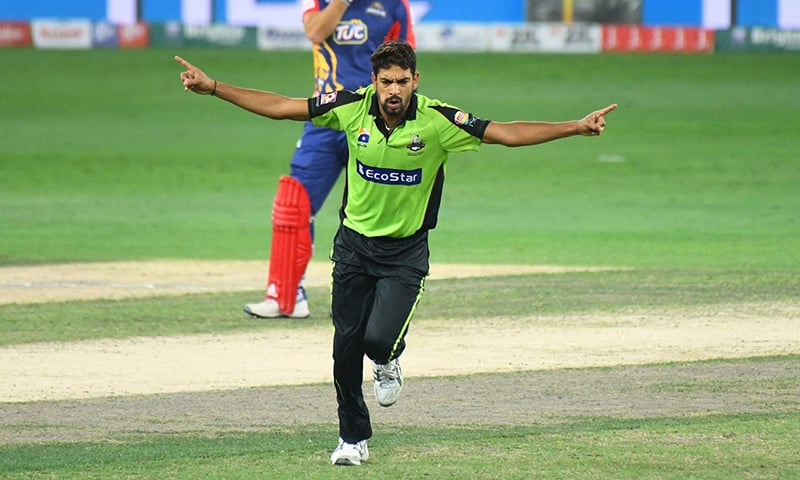 Haris Rauf for Lahore Qalandars. ─ Photo courtesy PSL Twitter