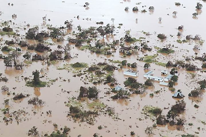 Beira (Mozambique): A view of flooding in an area affected by the cyclone.—AFP