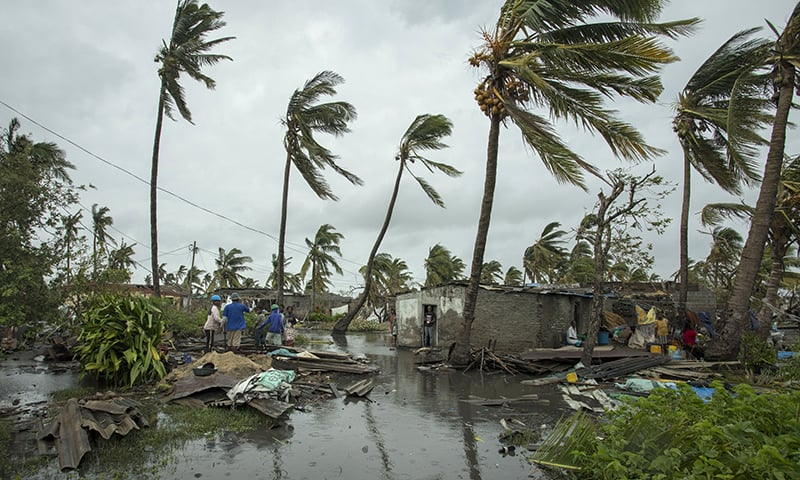 People return to their homes following a cyclone, and heavy rain in the coastal city of Beira, Mozambique, on Sunday March 17, 2019. ─ AP
