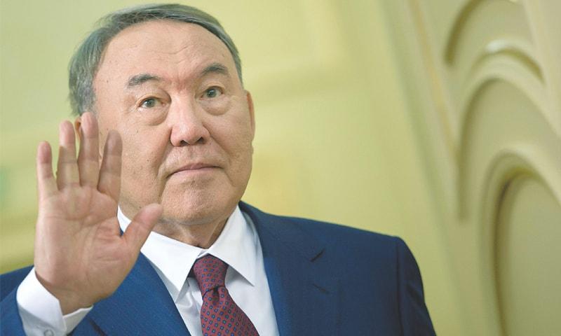 KAZAKH President Nursultan Nazarbayev.—AFP