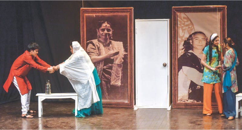 A SCENE from the play staged at the Arts Council.—Fahim Siddiqi / White Star