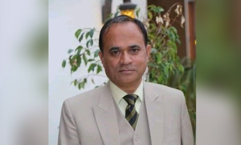 An old photo of deceased Professor Khalid Hameed of Government Sadiq Egerton College. — DawnNewsTV
