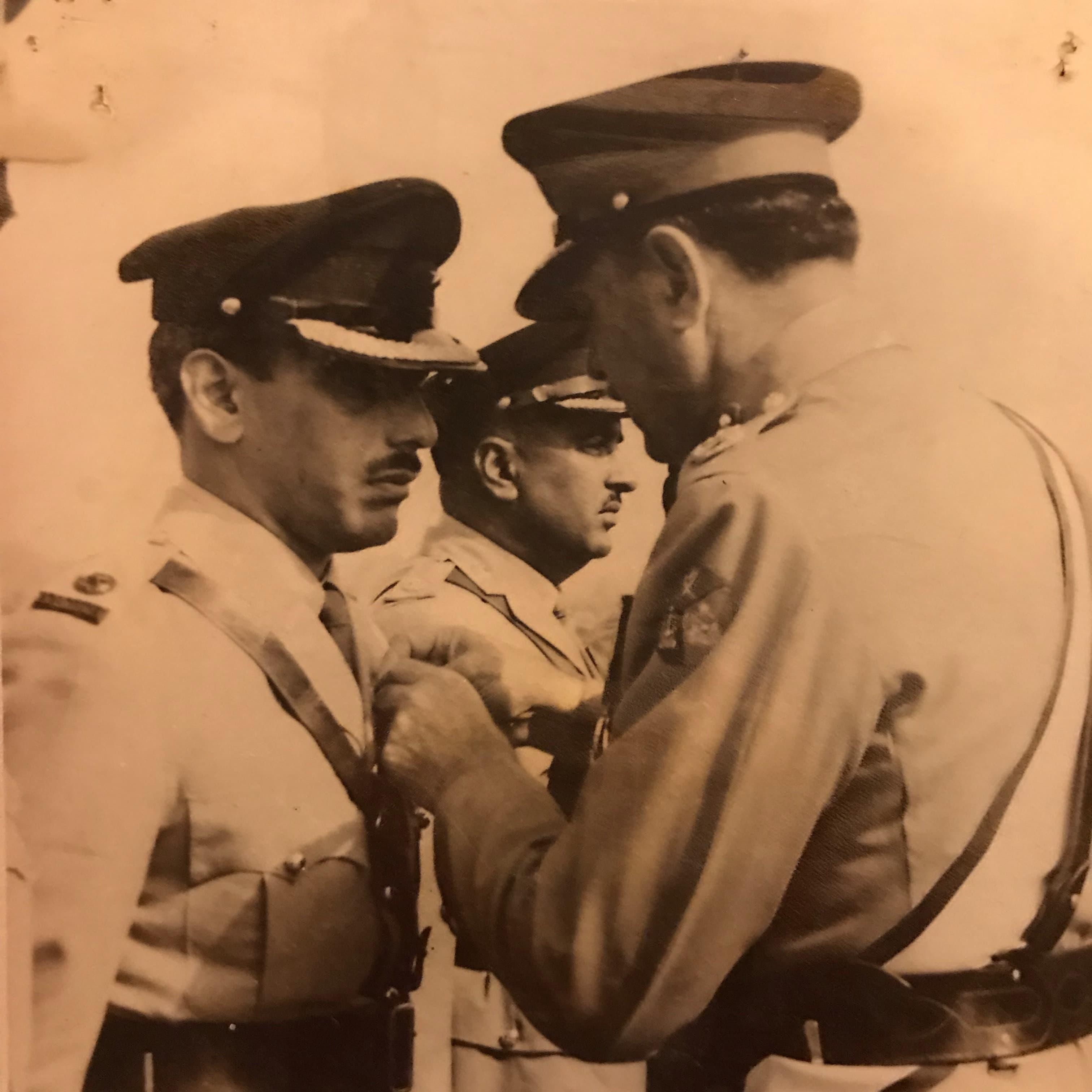 My grandfather receiving the Sitara-i-Jurat.