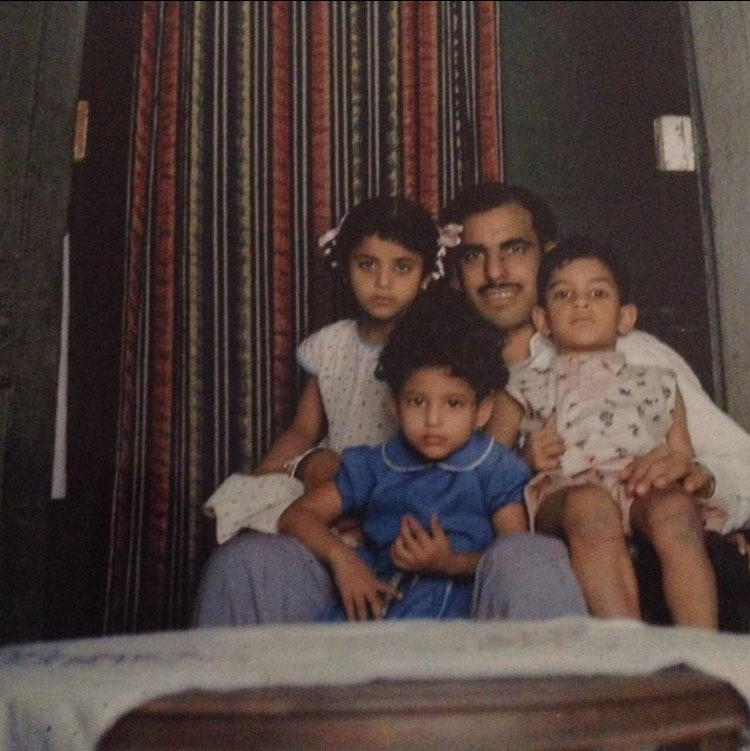 My grandfather with his children.—Photos by author
