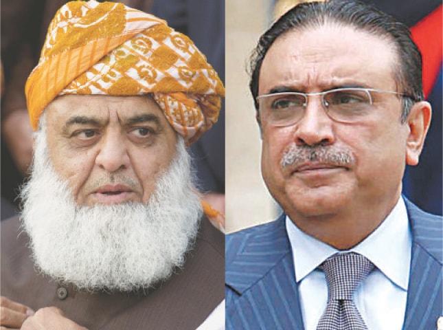 Maulana Fazlur Rehman and Asif Zardari.