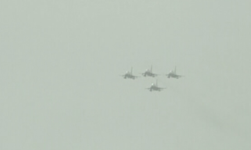 A formation of PAF jets demonstrates its prowess. — DawnNewsTV