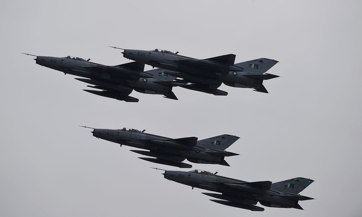 Fighter jets perform during the Pakistan Day parade in Islamabad on March 23, 2019. ─ AFP