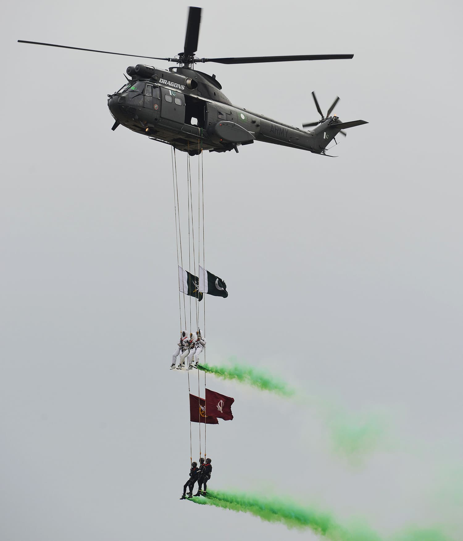 Special Services Group (SSG) commandos perform during the Pakistan Day parade in Islamabad. ─ AFP
