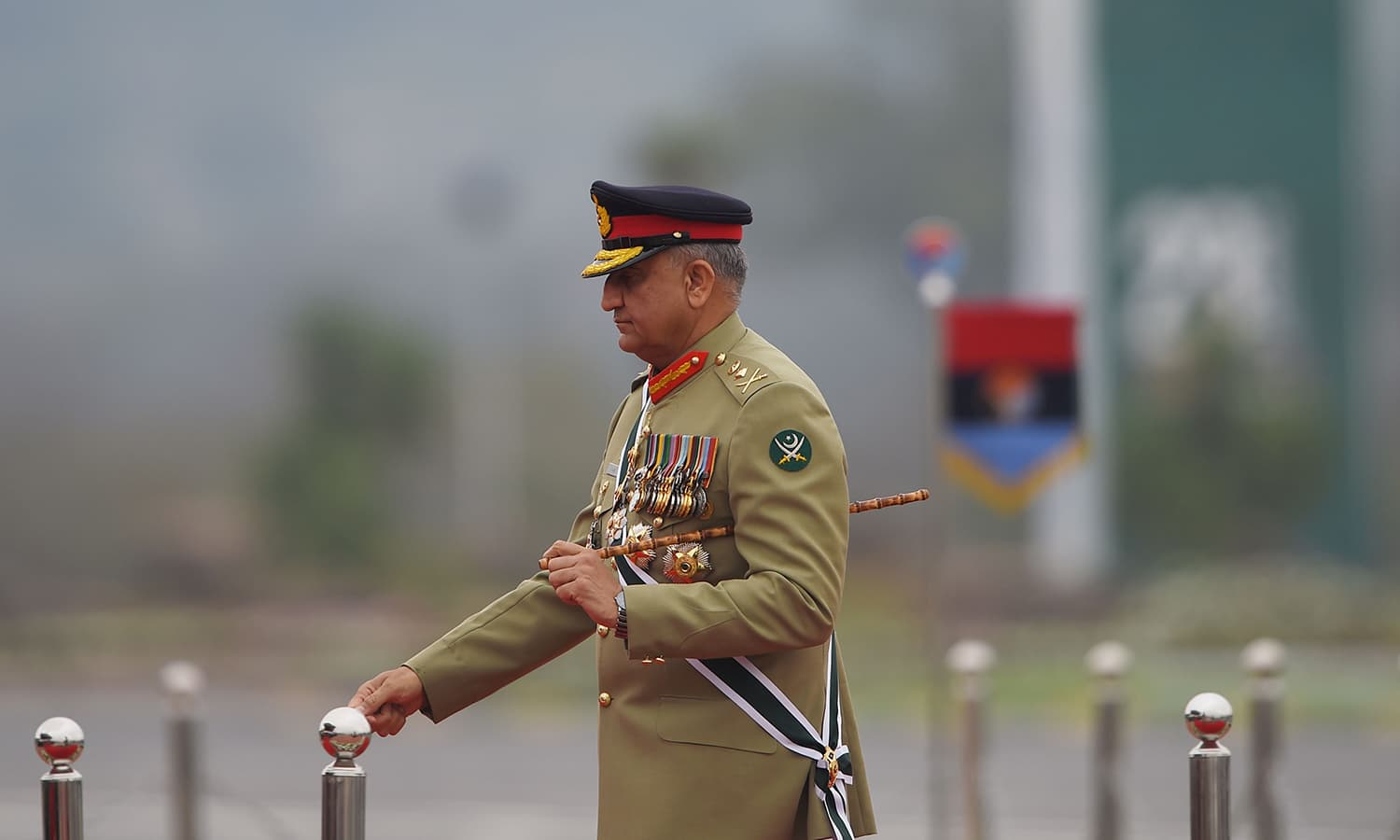 Army Chief General Qamar Javed Bajwa arrives to attend the Pakistan Day parade in Islamabad on March 23, 2019. ─ AFP