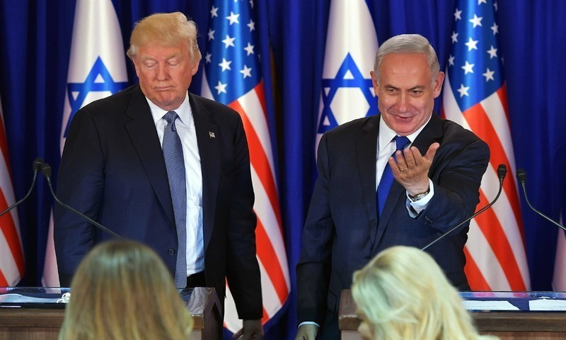 Analysts believe Trump's move to recognise Israeli sovereignty over Golan Heights will help Netanyahu at home. ─ AFP/File