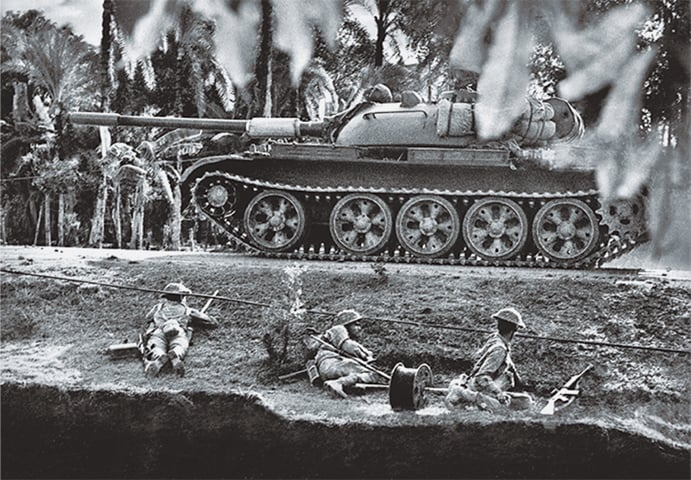 The Pakistani military conducting an operation during the 1971 war - Courtesy official Mujibnagar website