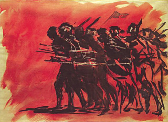 '1971' by Zainul Abedin | From The National Museum, courtesy The Daily Star