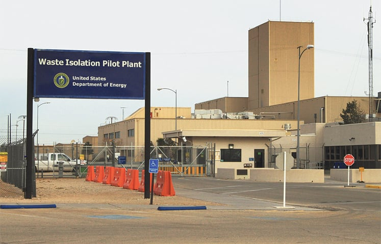 This March 6, 2014, file photo shows the idled Waste Isolation Pilot Plant, the US's only underground nuclear waste repository near Carlsbad in New Mexico.—AP