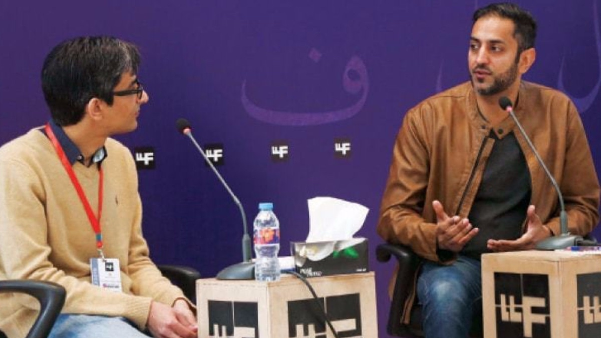 Zarrar talked about Pureland at this year's Lahore Literary Festival