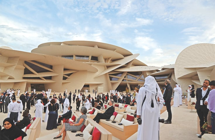 DOHA: Qatari and international celebrities attend the opening ceremony of the National Museum of Qatar on Wednesday.—AFP