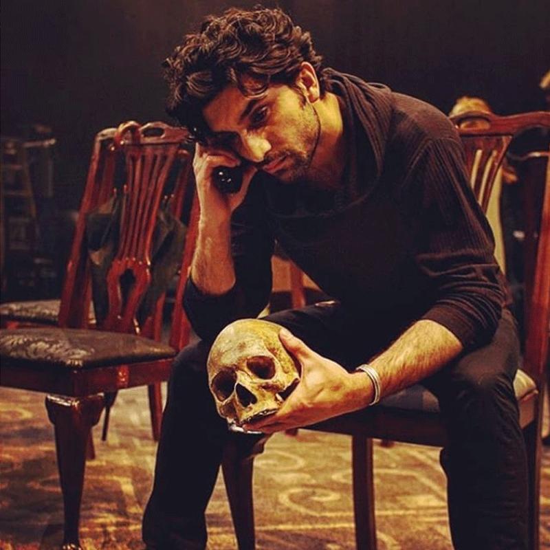 Ahad Raza Mir performing Hamlet.