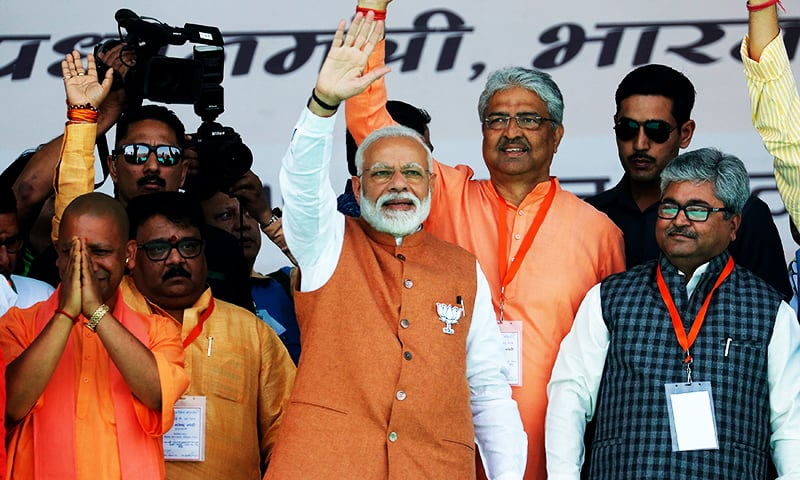 Modi promises 'new India' as he launches election campaign