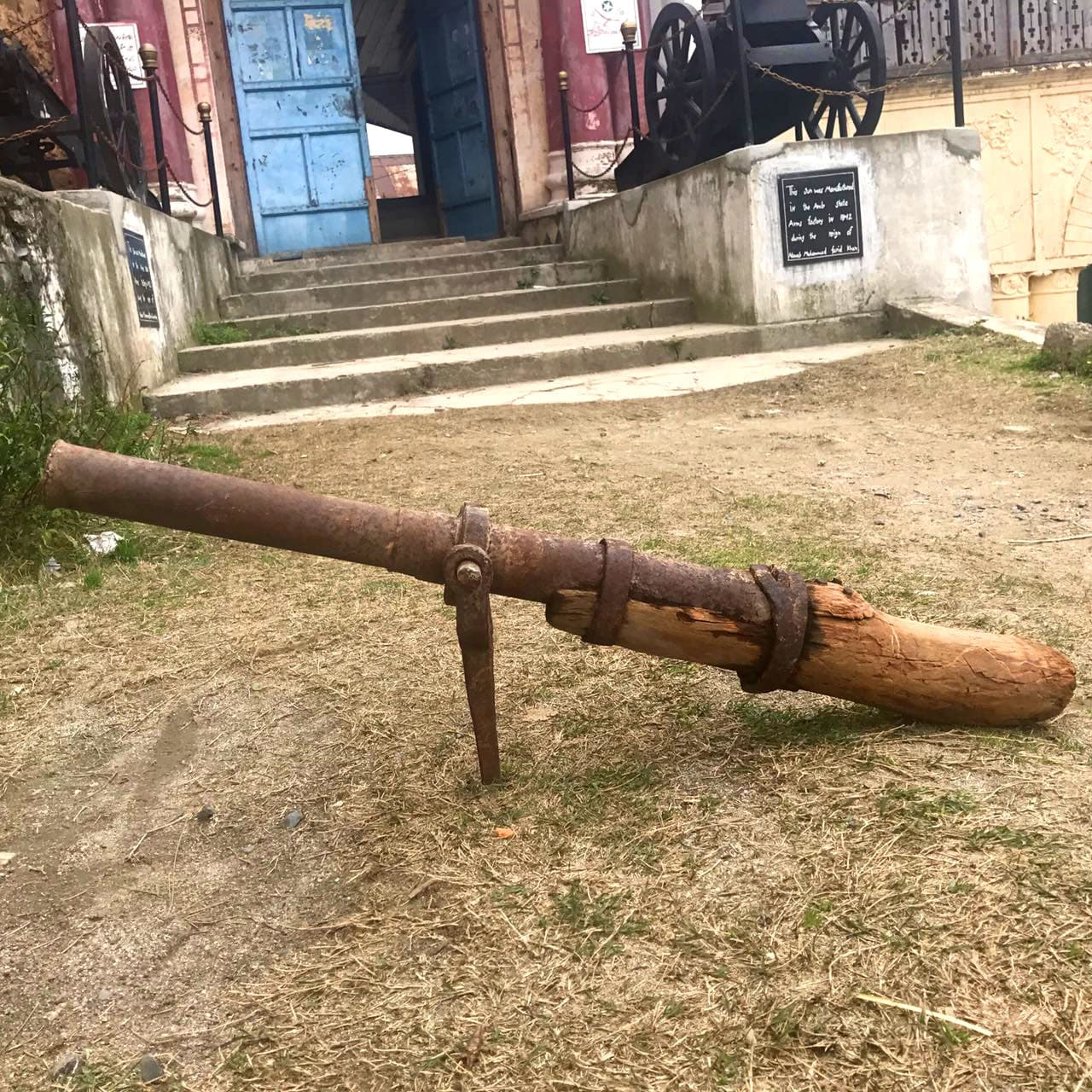 A zamburak used by Subah Khan Tanoli's clansmen while fighting alongside Ahmad Shah Abdali at Mathura in 1757. Photo credit: Jahandad Khan