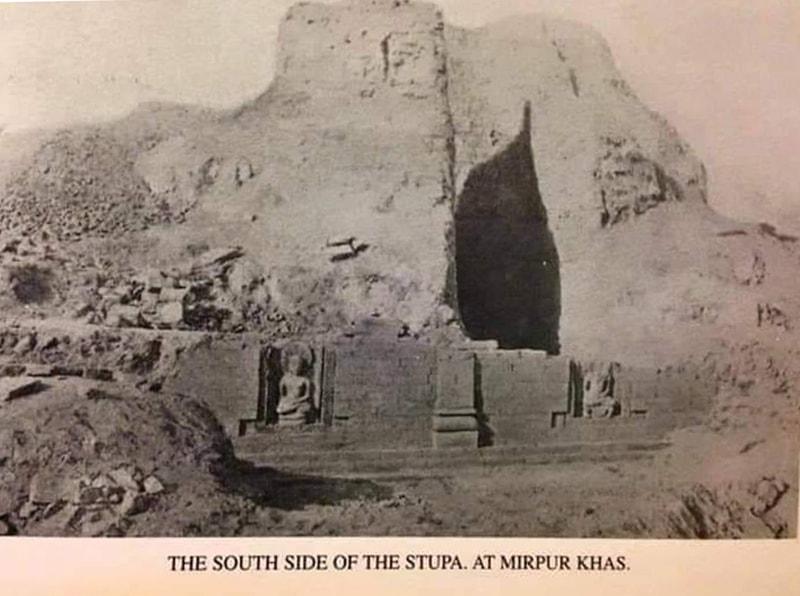 کاہو جو دڑو میں دریافت ہونے والا اسٹوپا، جس کا آج کوئی نشان باقی نہیں رہا