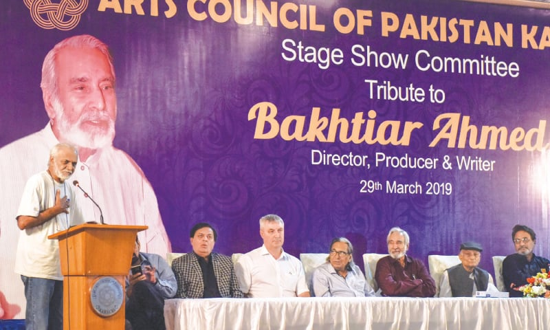 Actor Anil Chaudhry speaks at the event.—White Star