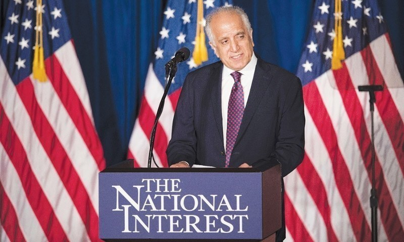 Mr Khalilzad, on a multi-nation trip for his efforts of facilitating intra-Afghan talks, also noted that Pakistan has assured Afghanistan it has no intention to interfere in its internal affairs. — AP/File