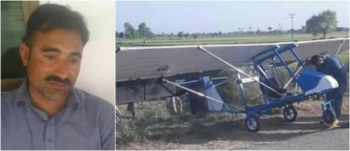 The man from Arifwala invented an airplane — Photos: FakhreAlam/Twitter