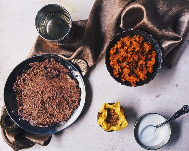 Sindhi carrot bhaji.—Belly Over Mind