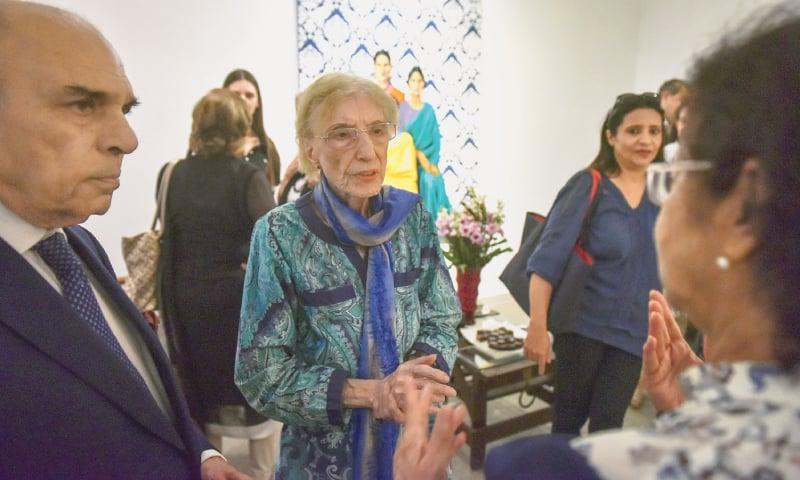 MARJORIE Husain speaks at the event.—White Star