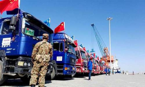 Officials says 700 personnel will be deployed for protection of China-Pakistan Economic Corridor route.— Photo by Khurram Hussain.