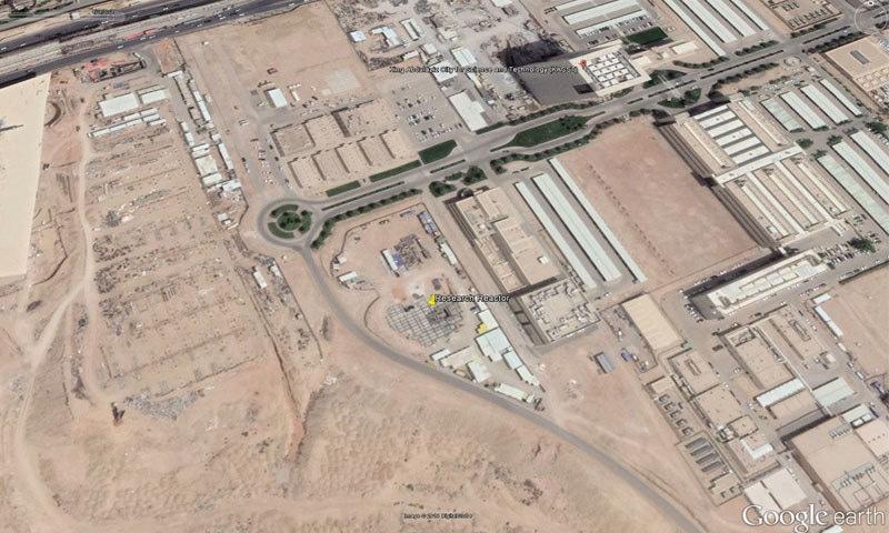 جوہری پلانٹ کی تعمیر کے دوران لی گئی سیٹلائٹ تصویر —فوٹو: گوگل ارتھ
